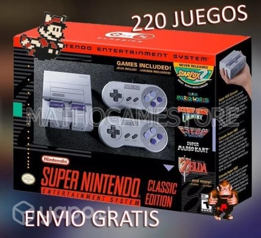 Snes Mini Classic Edition 220 Juegos Sellada Region Metropolitana